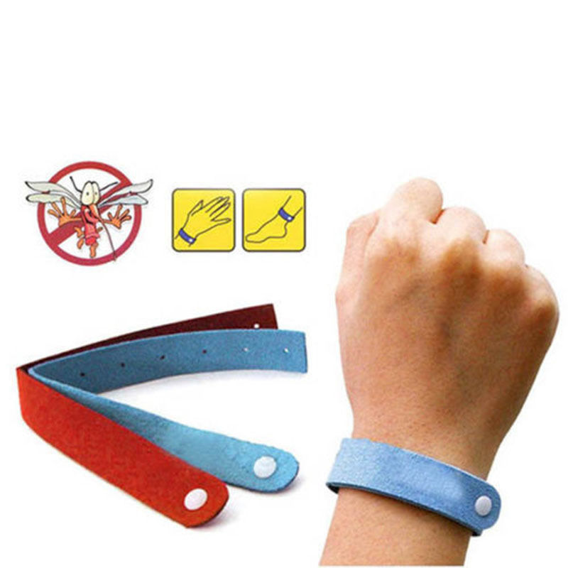 5pcs Anti Mosquito Bug Repellent Wrist Band Bracelet Insect Nets Bug Lock Camping(China (Mainland))