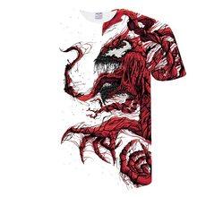 "BIANYILONG 2019 футболка Для мужчин Новые Venom Футболка ""Марвел"" футболки с 3D-принтом Для мужчин Для женщин Повседневная рубашка Фитнес футболка Фут...(China)"