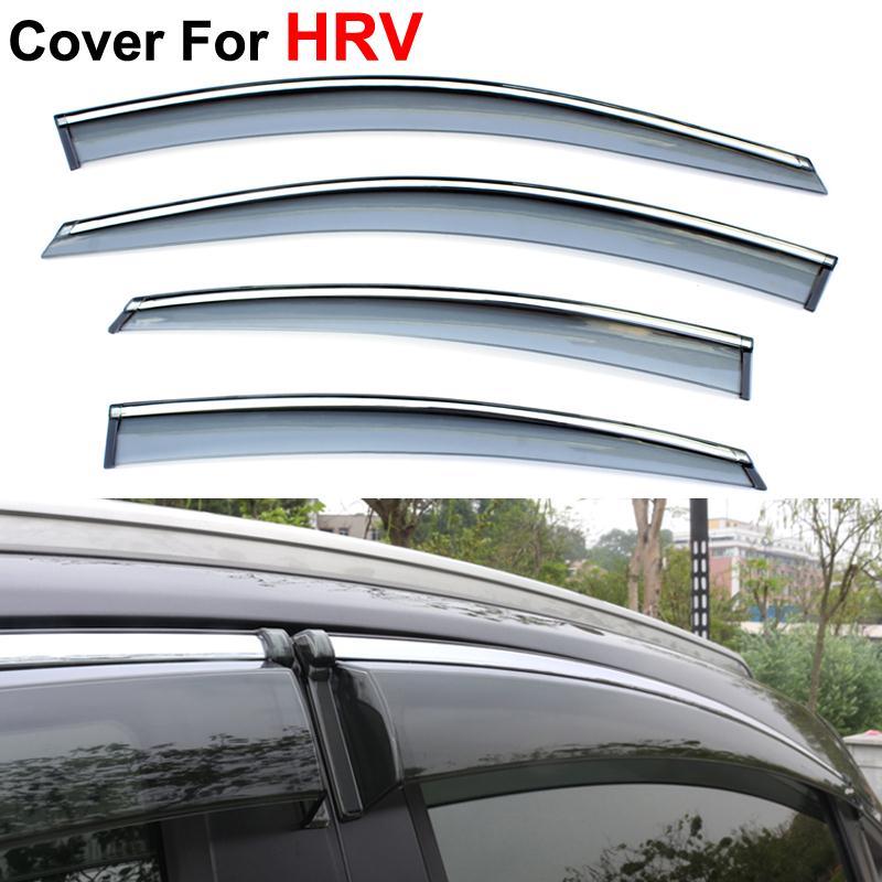 4pcs/lot Car Window Visor For Honda HRV HR-V 2014 2015 Rain PC Rain Shield Stickers Covers Car Styling Accessories<br>