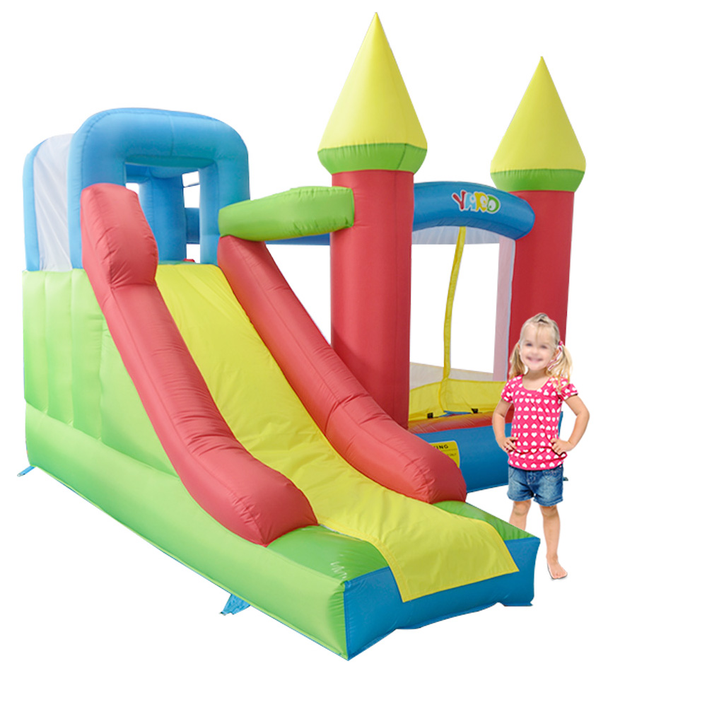 Free Shipping Inflatable Jumping Castles For Kid Bounce House Inflatable Bouncer Slide Combo With Blower(China (Mainland))