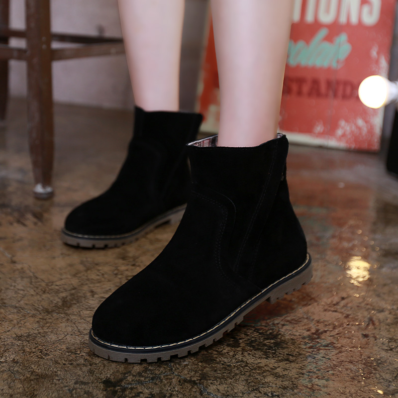 2016 new fashion women boots comfortable autumn boots large size ankle boots warm leather boots quality women shoes<br><br>Aliexpress