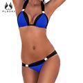 Bandagem Maiô 2016 Mulheres Swimwear Bandeau Empurrar Para Cima do Biquíni Impressão Estilo Brasileiro Bikini Sexy Fatos de banho maillot de bain femme