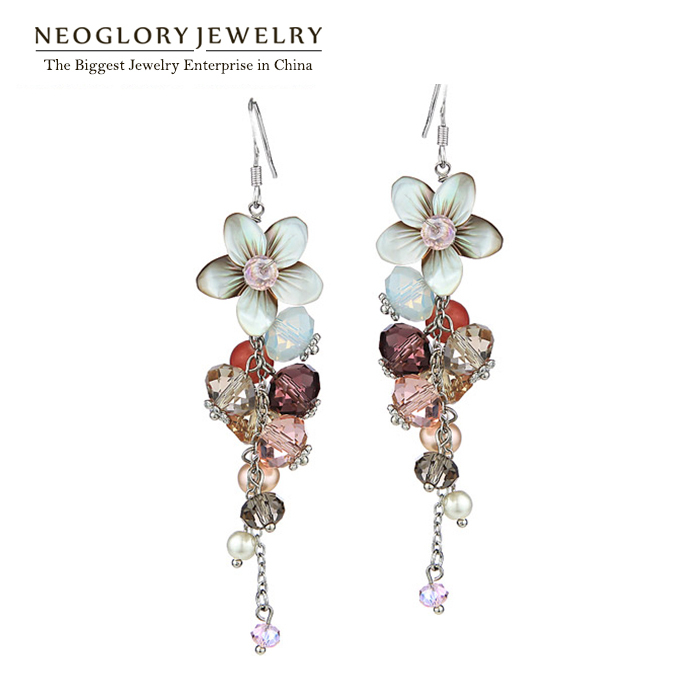 Neoglory austria crystal beads drop dangle earrings for Trendy womens gifts 2015