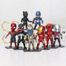 Os Vingadores Thanos Endgame Deadpool spiderman Venom Antman Pantera Negra Capitão América Figura de Ação Brinquedos Brinquedo(China)