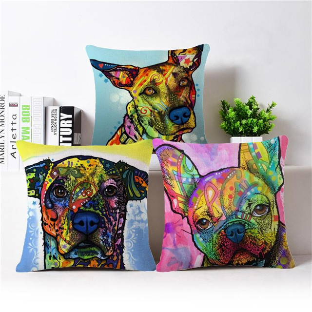 European Style Dog Cushion Covers Sofa Throw Pillow Covers Home Decoration Shabby Chic Cushions For Car