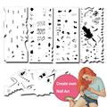 Custom Nail Art Airbrush 3D Nail Art Stencil Templates nail Decorations Set with 5 Design Sheets