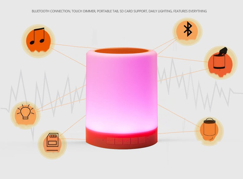 LED lamp Bluetooth speaker (1)