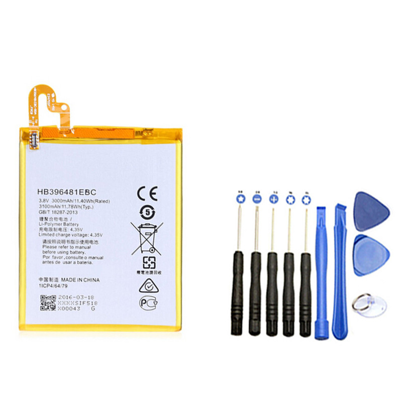 New Battery HB396481EBC 3100mAh With Repair Tool For Huawei G8 Moblie Phone free shipping