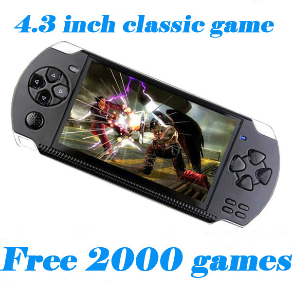 8GB 4.3 inch LCD Screen MP4 MP5 Players Games Console Handheld Game Player free 2000+games ebook/FM/1.3 MP Camera Free Shipping(China (Mainland))