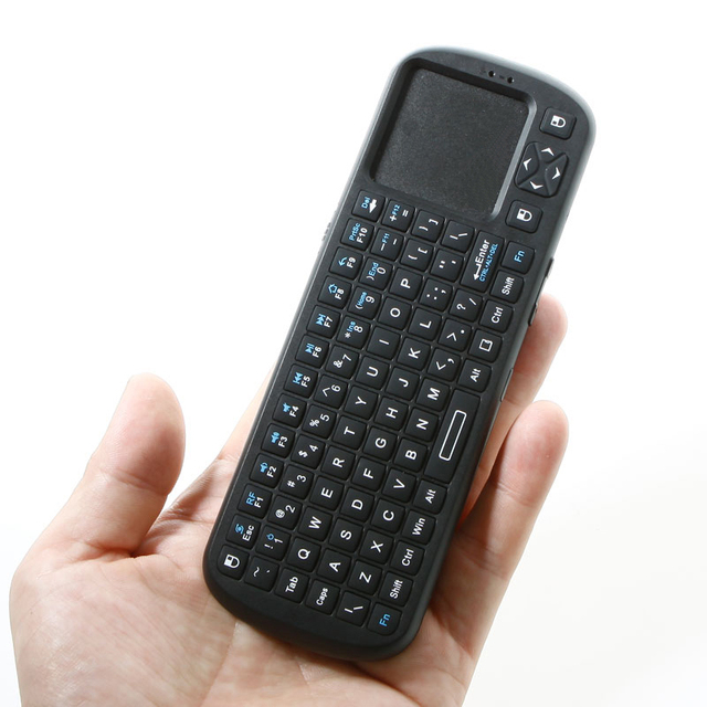 iPazzPort 2.4G RF Mini Wireless Keyboard Handheld Keyboard Touchpad with LED Light Smart TV / PC Remote Keyboard teclado sem fio