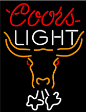 Coors Light Breathing Bull Face Neon Beer Sign Avize Nikke Air Jordann Sign Tube Handicraft Beer Dallaas Cowboys Jersey 31X24(China (Mainland))