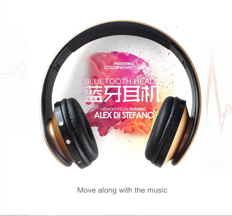 OVLENG EB203 Wireless Bluetooth Headphones Portable Earphone for Iphone Samsung Xiaomi Stereo Headset Support SD Card+FM Radio