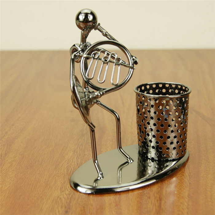 1 Pc Master Metal Style Pen Holder Europe Material Office Desk Organizer Container Pencil Case
