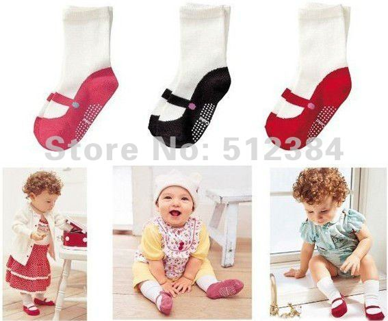 COMBI mini anti-slip unisex 100%cotton baby socks infant socks 3 pairs/lot retail free shipping<br><br>Aliexpress