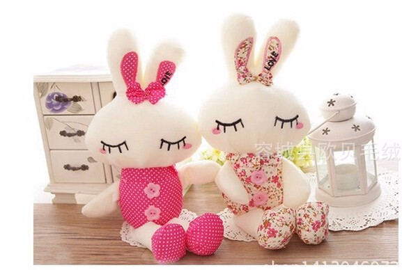 1pcs 28cm  Metoo Love Rabbit Little Bunny Plush Toys Small Stuffed Animals Wedding Gift For Sale KIds toys<br><br>Aliexpress