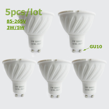 Buy 5pcs/lot GU10 MR16 led spotlights 3W 5W lamp cup cob led lamp ac 110v 220v 12v led bulb warm cold white led ceramics light for $15.61 in AliExpress store