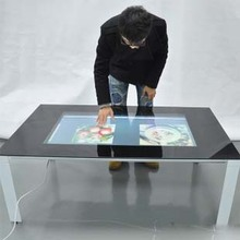 Promotion! Best price 84″ Real 6 Points lcd interactive touch foil film through glass shop window for touch kiosk, table etc