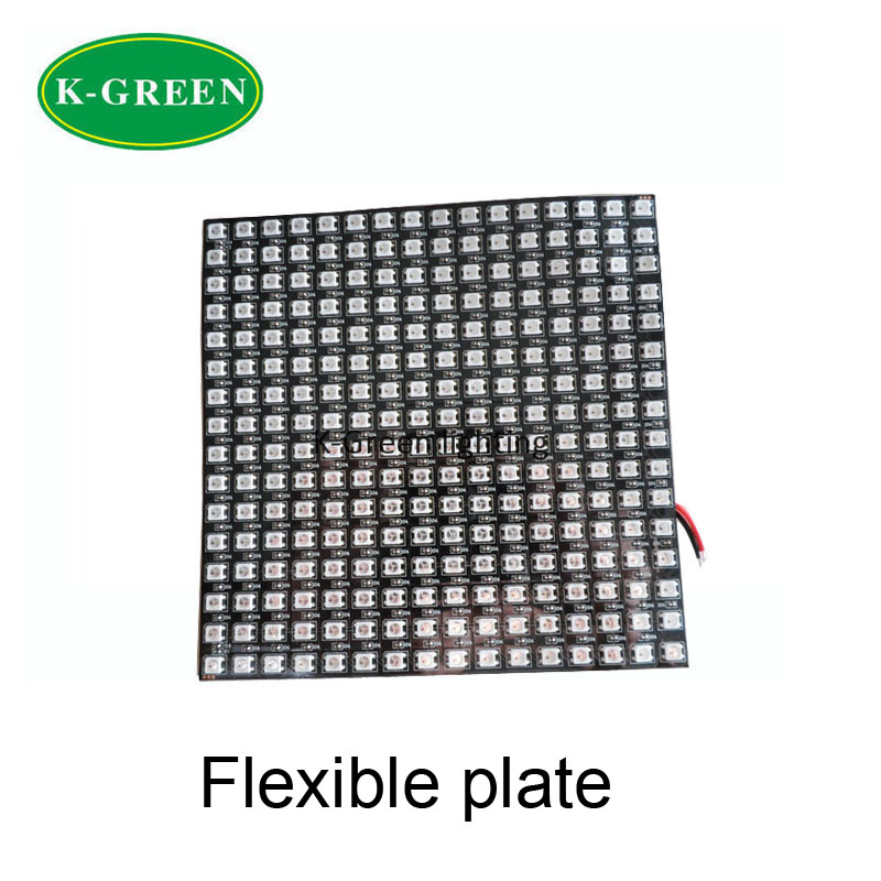 10X WS2812B 16*16pixels RGB digital led display screen dimension 170*170mm flexible plate express free shipping(China (Mainland))