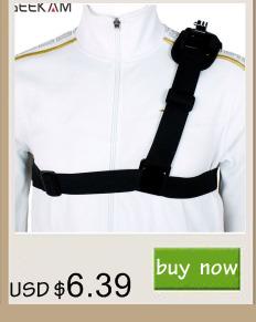 GEEKAM Go pro Accessories shoulder Strap Mount Harness for Gopro Hero 4 3 2 SJ4000 Xiaomi Yi Camera Chest Harness Belt Adapter