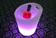 Waterproof Colorful LED Light Champagne Wine Chiller Ice Bucket allows for easy one hand use Fresh