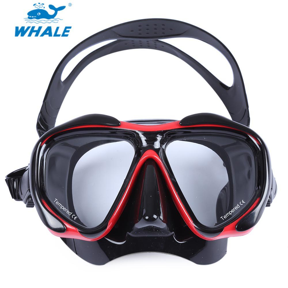 WHALE Comfortable Solid Red Diving Mask Professional Scuba Hyperopia Myopia Diving Swimming Mask Goggle for Diving Swimming(China (Mainland))