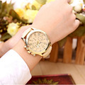 CLAUDIA New Fashion Women Dress Watch Bracelet Geneva Roman Numerals PU Leather Analog Quartz Wristwatch Casual