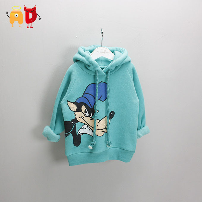 AD Children's Thickening Sweatshirts Boys & Girls Winter Character Velvet Warm Hoodies Pullover T-shirts Kids Sweaters Clothing - Angel vs Devil store