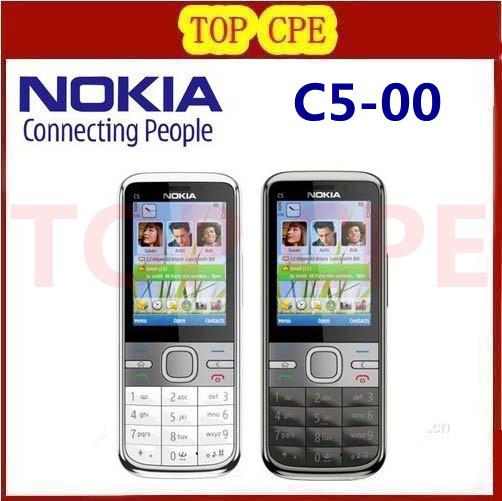 Free shipping Refurbished Original C5 Unlocked Nokia C5-00 Mobile Phone Camera 3.15MP GPS Bluetooth Mobile Phone(China (Mainland))
