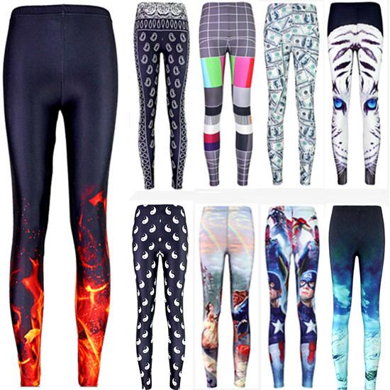 Гаджет  Sexy 2015 hot sale new arrival Novelty 3D printed fashion Women leggings space galaxy leggins tie dye fitness pant free shipping None Одежда и аксессуары