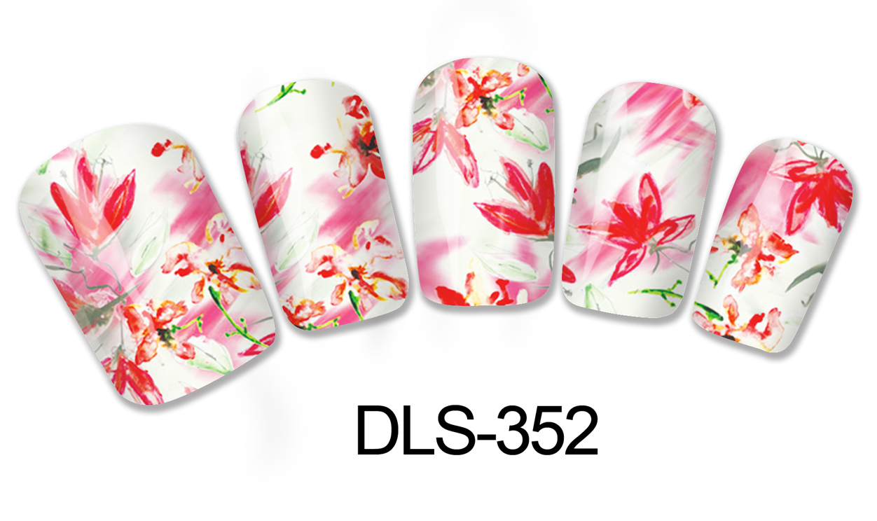 DIY Water Transfer Foils Nail Art Sticker Fashion Nails Shine Chinese Flowers Paint Decals Minx Cute Nail Decorations(China (Mainland))