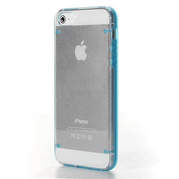 Aneroideed Ultra-Thin Clear Glossy Hard Case Candy Frame Shell For iPhone 5(China (Mainland))