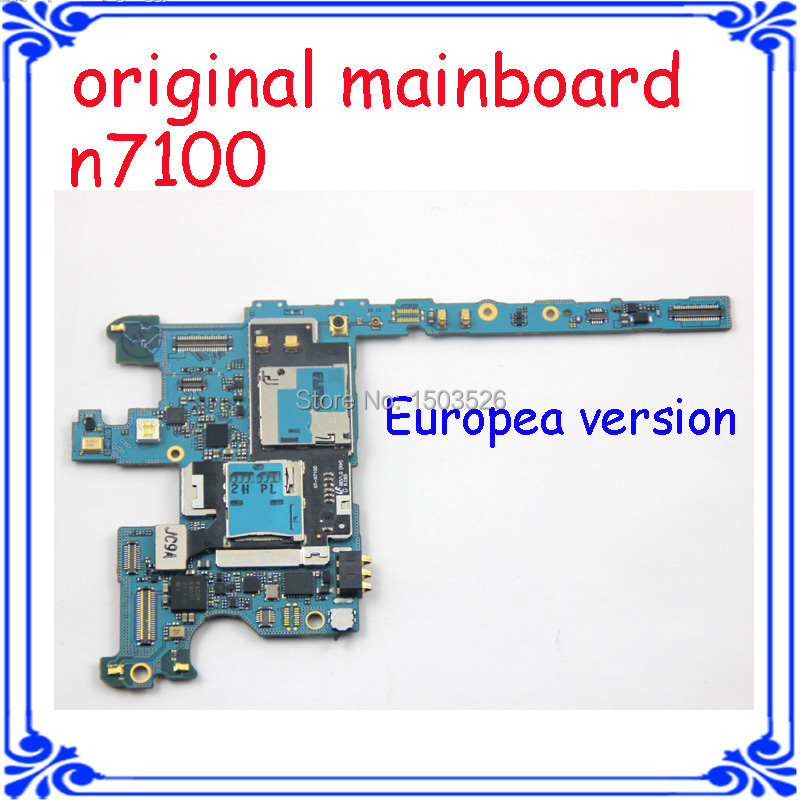 N7100 Original motherboard Europea version mainboard system board for samsung Galaxy note 2 N7100 unlocked logic board Android(China (Mainland))