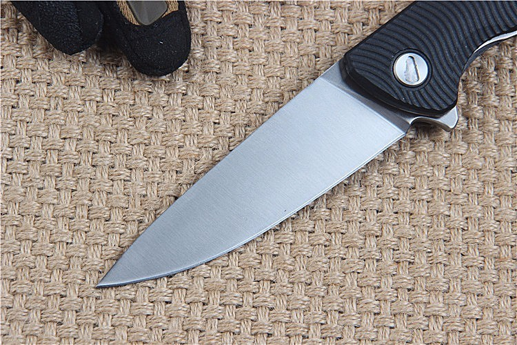 Buy New tactical folding knife camping hunting survival pocket knife utility outdoor D2 blade G10 handle F3 knives edc hand tools cheap