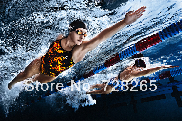 High quality handpainting art oil painting,swim oil painting on canvas swimming picture(China (Mainland))