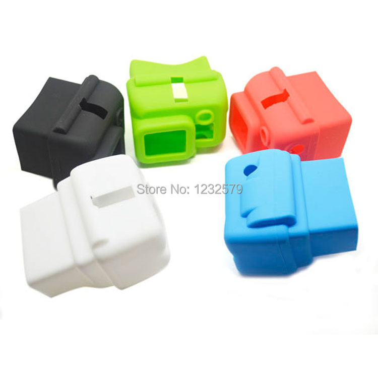 MultiColor Choose Soft Silicone Rubber Camera Protective Dustproof Case Cover Skin for GoPro HD Hero 3 Housing box Accessories(China (Mainland))