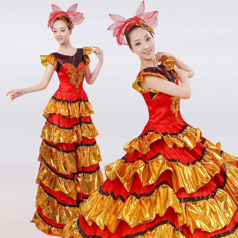Brand DANCER IMAGE Spanish Ethnic Bullfighting Dance Costume Paso Doble Women Flamenco Dance Dress Danza