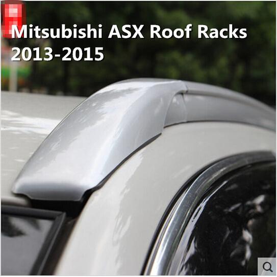 2pcs High Quality Aluminum OEM Style SUV car Roof Rack baggage luggage bar For Mitsubishi ASX 2013 2014 2015 (black silver)(China (Mainland))