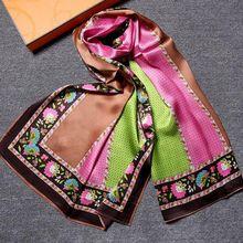 Temperament Printing 100% Pure Silk Scarf ,Women's Rectangular Silk Scarves Shawl Wraps Fashion Accessory(China (Mainland))