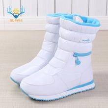 Зимние сапоги; женская теплая обувь; зимние сапоги; 30% Натуральная шерсть; обувь белого цвета; BUFFIE; 2019; большие размеры; на молнии; до середины ...(China)