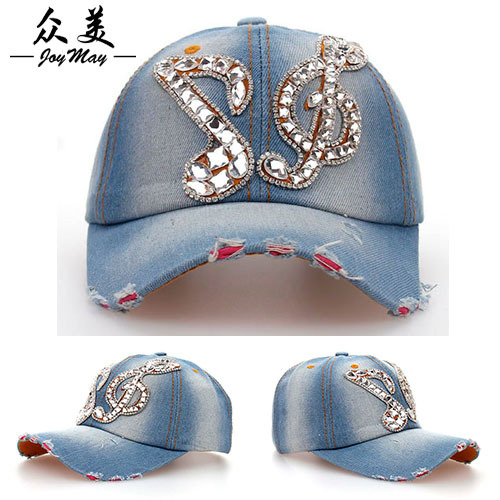 Highest Quality 2015 Baseball Cap Snapback Cotton Hat Cap Note Rhinestone Shipping Popular Neutral cap Men and women B077(China (Mainland))