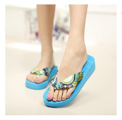 New 2015 Wedges Platform Sandals Flip Flops Ultra High Heels Slippers Women's Shoes Platform Shoes Pump Sandals Sapatos Chinelo