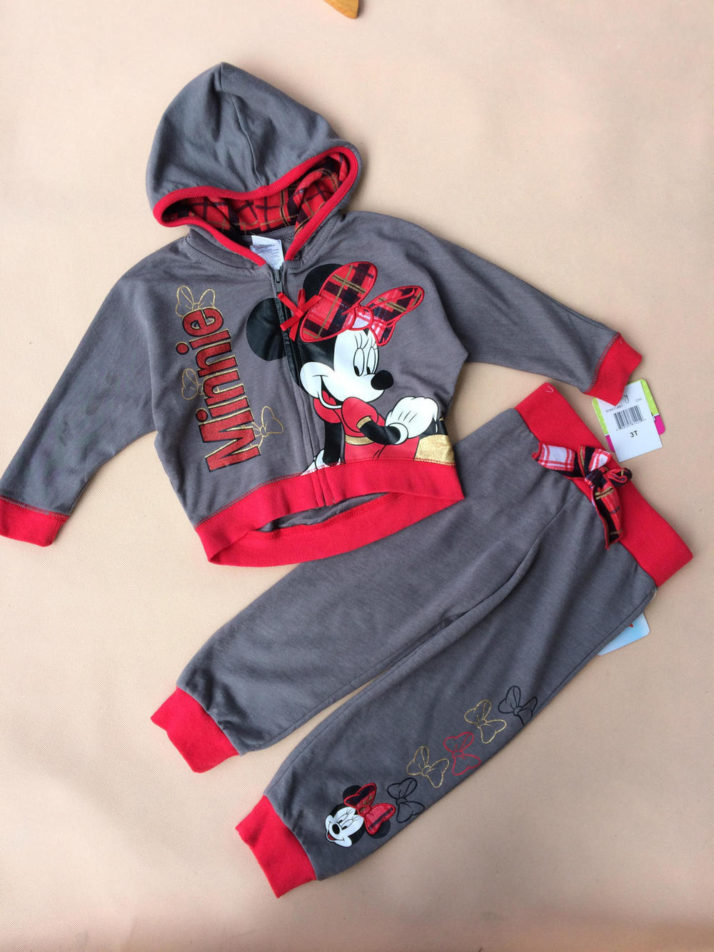 original spring & autumn children sweatshirt outerwear,cheap and limited,minnie kids clothing set,Mickey 80% Terry suit girls(China (Mainland))
