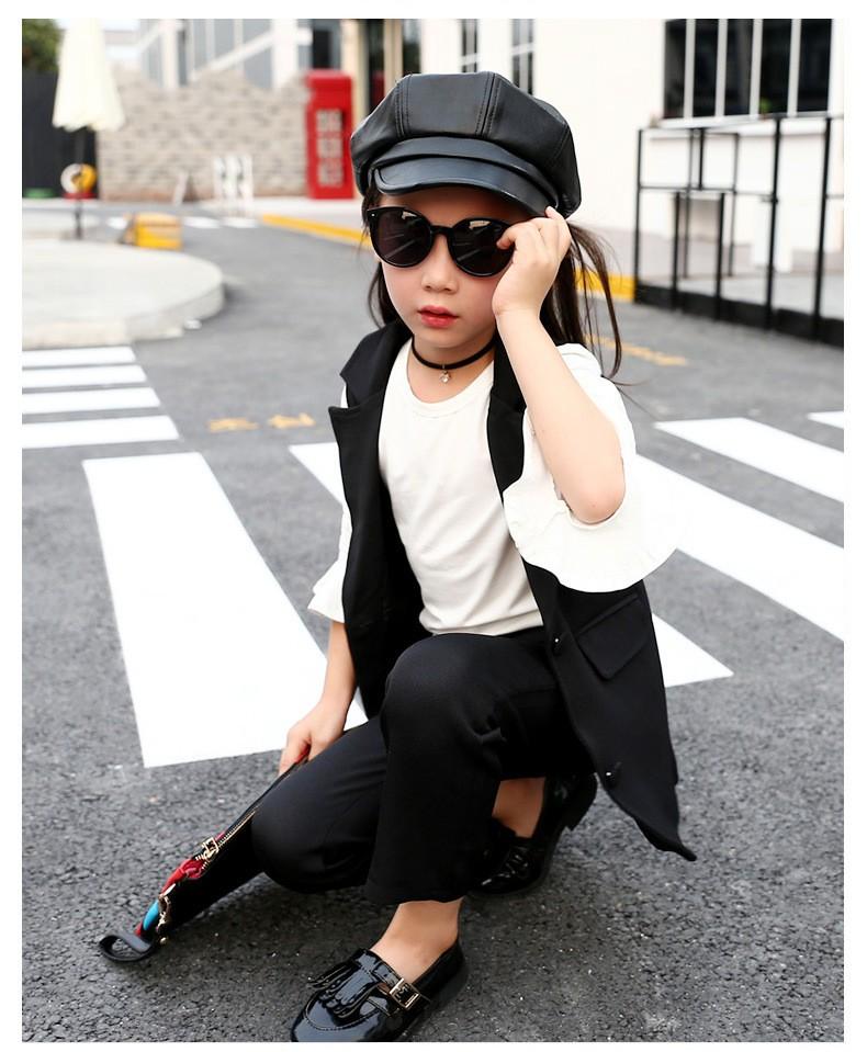 Скидки на 2016 Новая Мода Повседневная Дети Девушки одежда набор куртка + Брюки Одежда Набор Лето Детское Одежда