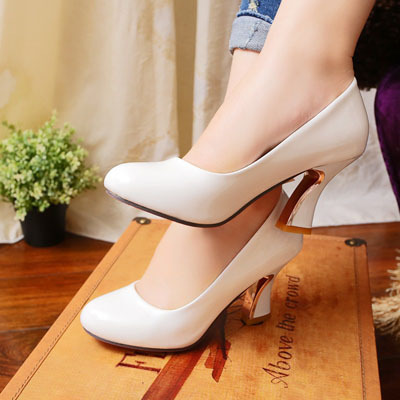 ENMAYER retail and wholesale large size 34-43 ladies pumps. high heels shoes.low heels evening shoes Red White Black<br><br>Aliexpress