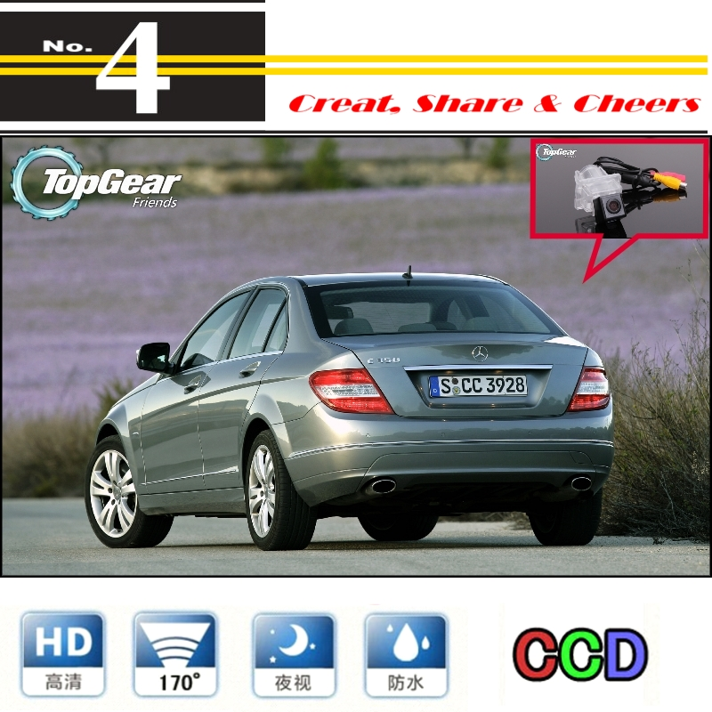 Car Camera For Mercedes Benz C Class MB W204 High Quality Rear View Back Up Camera For PAL / NTSC | CCD + RCA(China (Mainland))