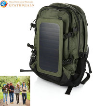 Outdoor 35L Solar Backpack Charger Bag Removable 6.5W Solar Panel Back Pack for Cell Phones / 5V Devices Power Bank(China (Mainland))