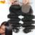 """Бесплатная Доставка 7А Дешево Шелк База Закрытие Бразильские Волосы 4X4 """"объемная Волна Спрятанные Узлы Ближний/Бесплатно/3 часть Закрытие Человеком Шелк Волос"""