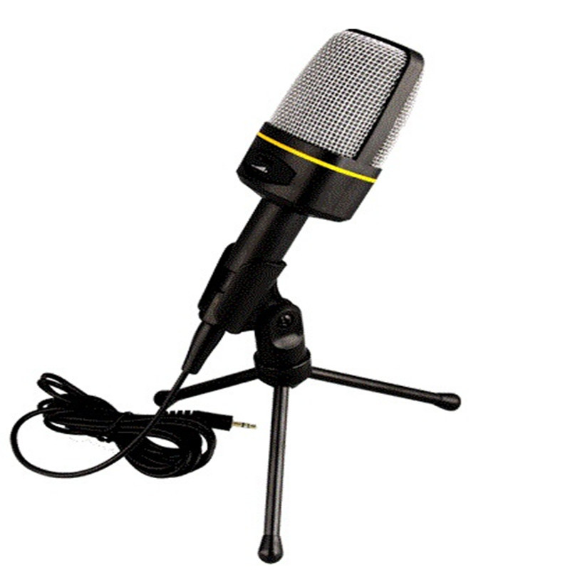 Professional Handheld Condenser Microphone Stand Studio Microphone Wired Holder Clip Mini Desktop Microphone for Computer PC(China (Mainland))