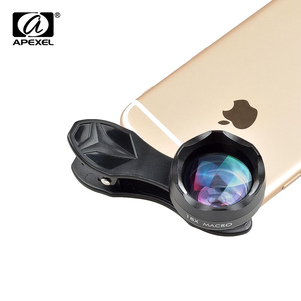APEXEL 2017 New 18x super macro Lens professional HD super macro mobile phone camera lenses for iPhone 6 7 Xiaomi Samsung HTC(China (Mainland))