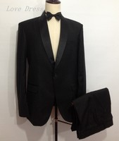 Free Shipping Formal Men Suits  Man Wedding Suits Shawl Lapel One Button Groomsmen Tuxedos